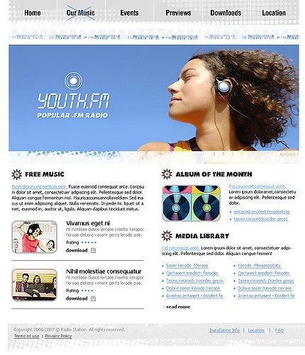 Youth.fm Radio Website Templates by Delta