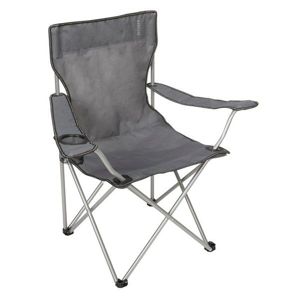 Basic Arm Chair With Carrying Case Gray Embark Camping Chairs Armchair Kids Camping Chairs