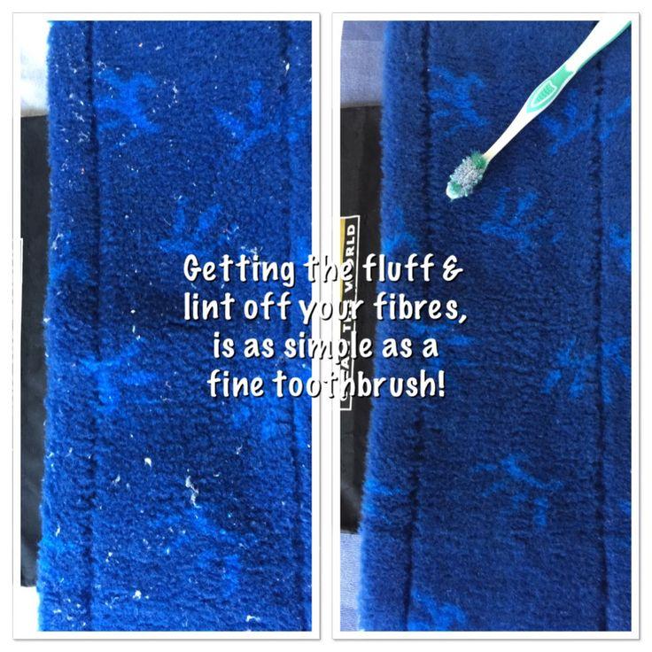Get fluff off you fibres! Easy!