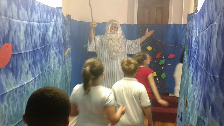 Moses parting the Red Sea Wilderness escape VBS