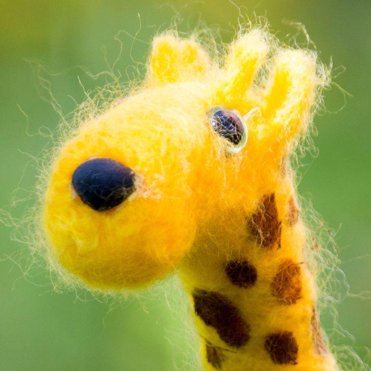Needle Felted Giraffe by ChameleonArtStudio on Etsy