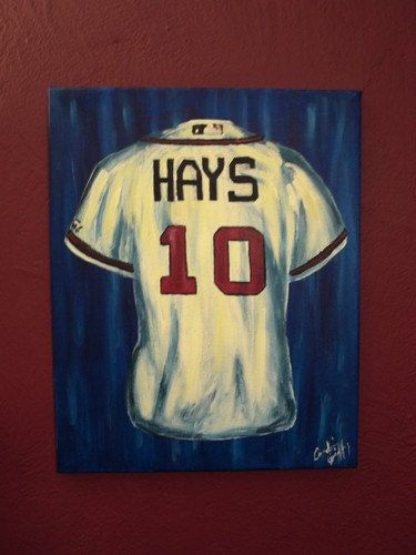 PERSONALIZED jersey paintings on canvas by 3rdGenerationStudios, $89.00