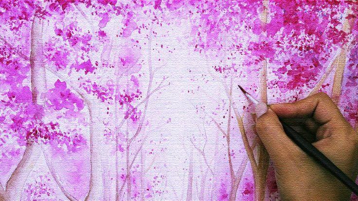 """DIY room Decor: """"floresta encantada"""" como pintar passo a passo"""