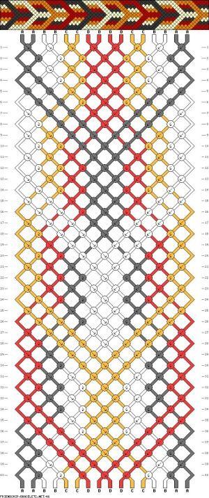 DIY - Friendship Bracelet Pattern by Aniky