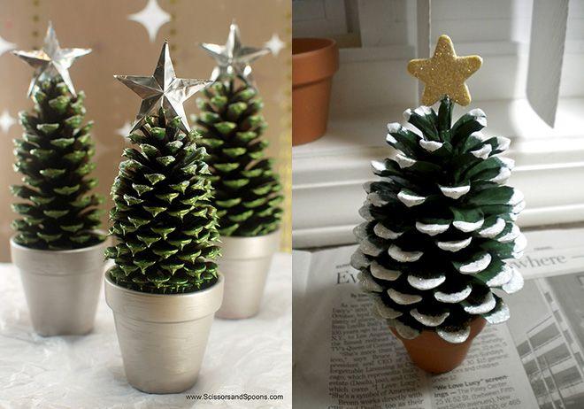 manualidades de árbol de navidad con piñas                                                                                                                                                                                 Más