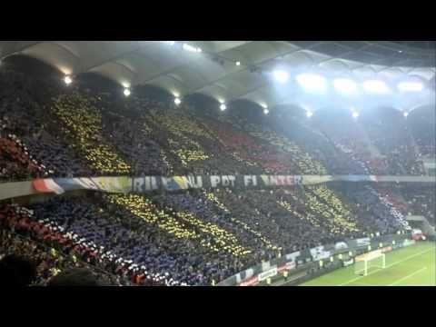 Coreografie ultras Steaua vs Dinamo, derby di Bucarest 4/11/2012