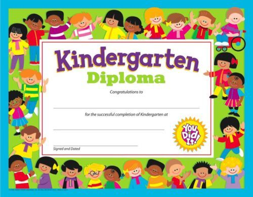 KINDERGARTEN DIPLOMA (Pack of 30) - Thank you for an amazing year - - FREE POST