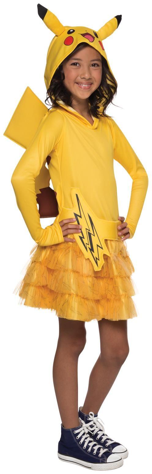 Girls Pokemon Pikachu Hoodie Child Dress For Halloween  sc 1 st  Meningrey & Pikachu Child Costume - Meningrey