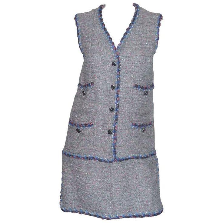 Chanel 2015 MultiColor Tweed Dress