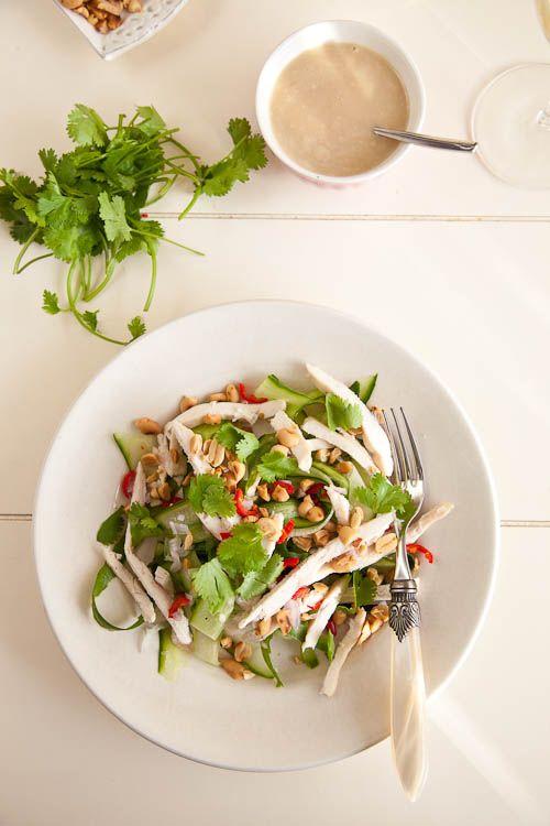 Thai chicken,cucumber and coconut saladYummy Thai, Chicken Salads, Thai Salad, Coconut Milk, Coconut Salad, Recipese Salad, Thai Chicken Cucumber, Food Salad, Healthy Food