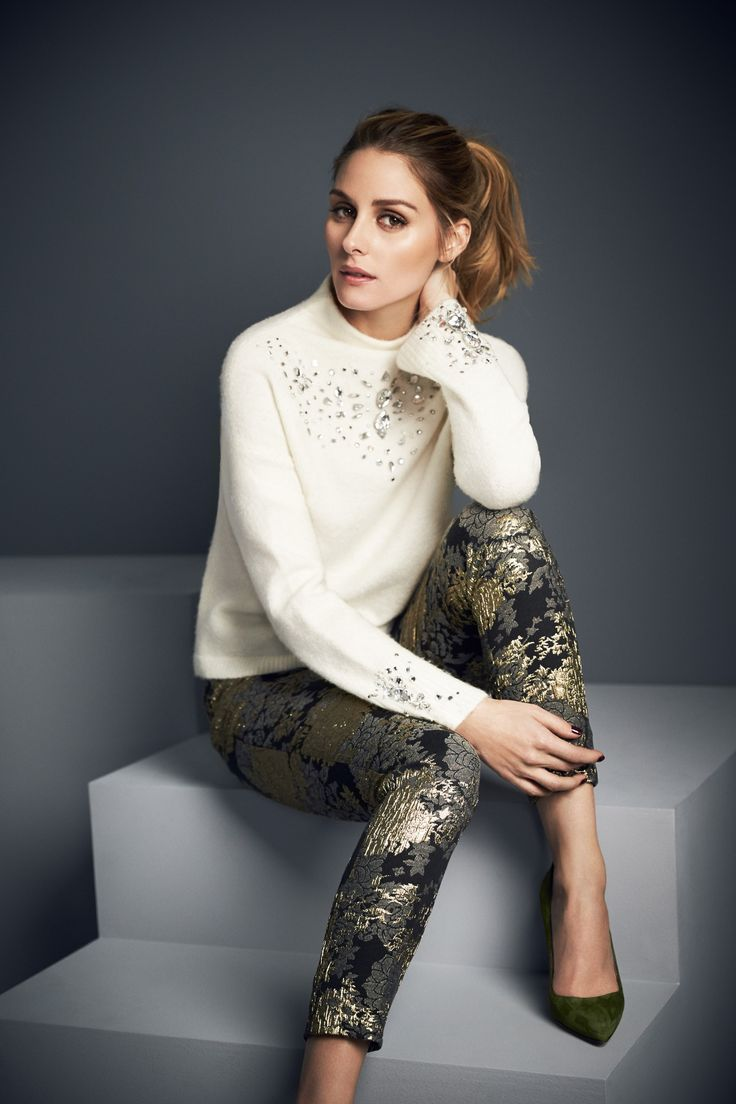 Olivia Palermo for AW16 Campaign | Lovato Jacquard Trousers