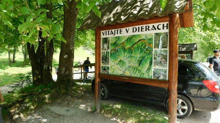 Vstup na náučný chodník - Jánošíkové diery, Terchová