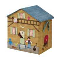 Rice Dk Cowboy Raffia Toy Basket Foldable Version add instant colour to a childs bedroom
