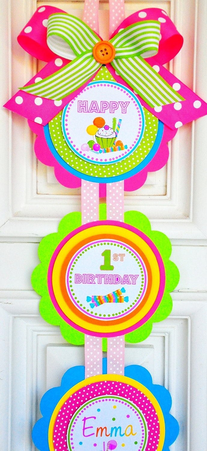 Sweet Shoppe/Candyland party door  sign. Etsy.