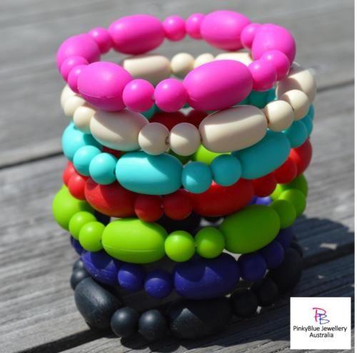 Price: $8.00 http://www.ebay.com.au/itm/Silicone-Bead-Bracelet-Funky-Fashion-Jewellery-Autism-Sensory-ASD-/262224310314?ssPageName=STRK:MESE:IT