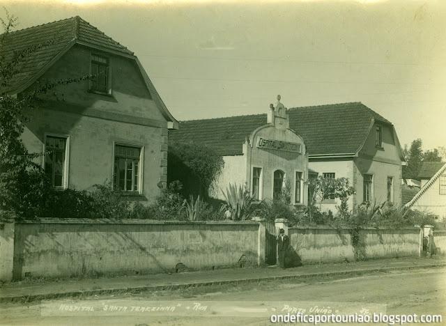 Hospital Santa Terezinha na Rua 7 de Setembro em Porto União - Santa Catarina - Brasil.