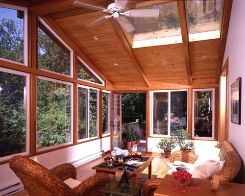 17 best images about sunrooms on pinterest patio cedar for Log home sunrooms