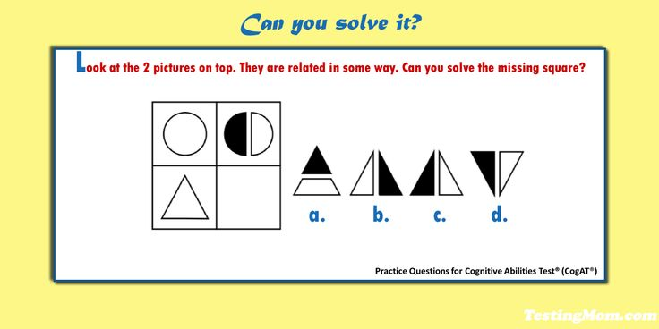 Pin on Cognitive Abilities Test™ or CogAT® Free Practice