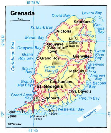 Grenada map - now we can see where to visit