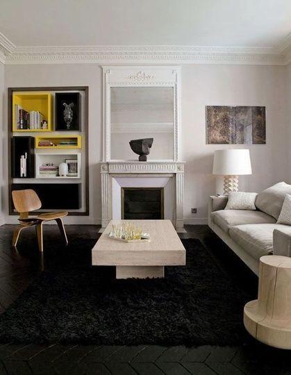 Repeindre le sol pour faire ressortir la décoration de son salon - 44 photos pour trouver l'ambiance de son salon - CôtéMaison.fr#diaporama#diaporama