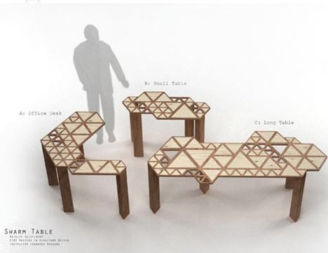 Transforming Swarm Table Inspired by Movement in Nature