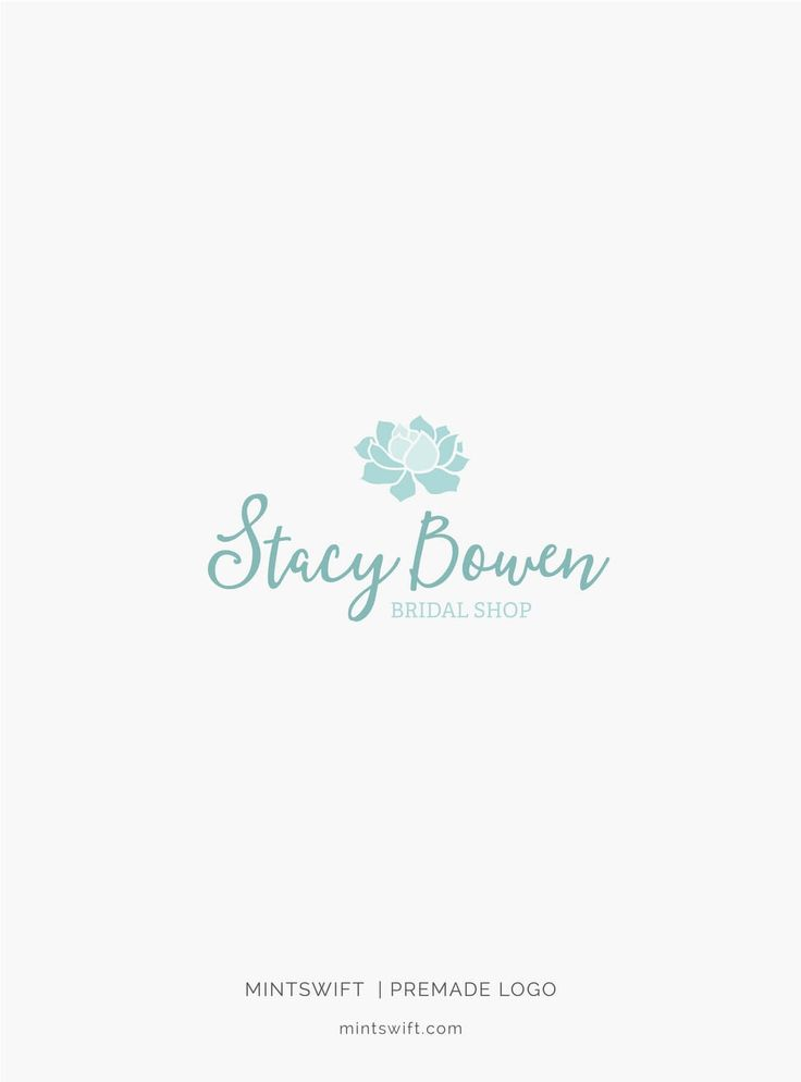 $39 | Stacy Bowen Premade Logo Design | MintSwift