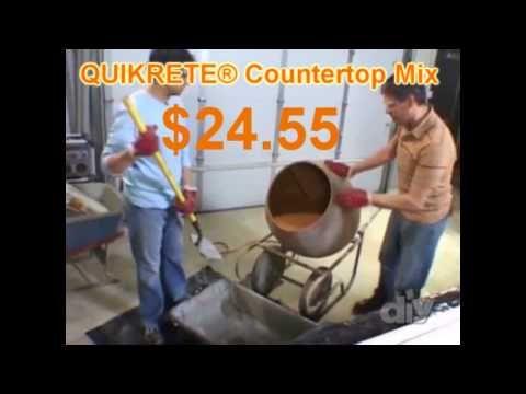 Quikrete Countertop Mix - YouTube