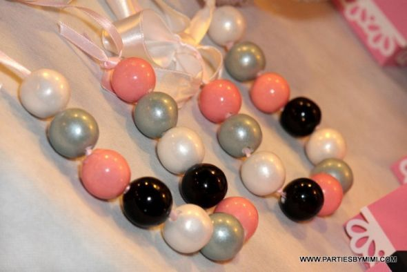 Found on Weddingbee.com Share your inspiration today! Gumball necklaces!!
