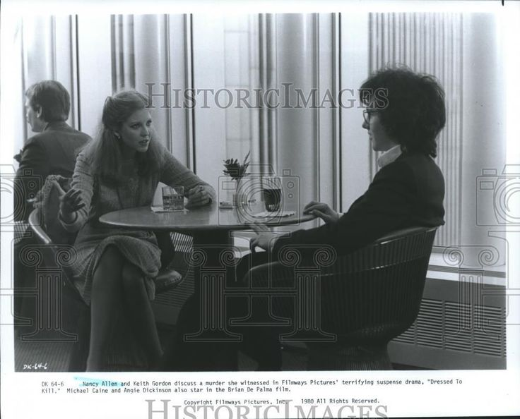 "Cool Great 1980 Press Photo Nancy Allen, Keith Gordon in a a scene from ""Dressed To Kill"" 2017-2018"