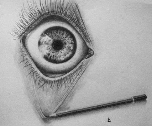 Pencil - Drawing - Eye