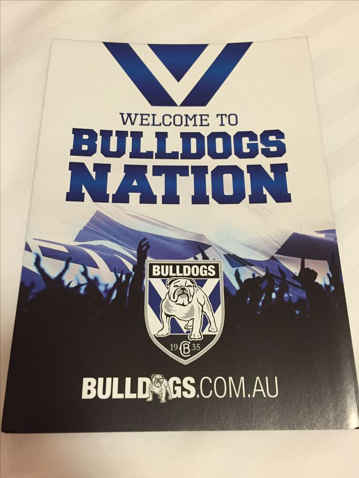 NRL Bulldogs ANZ Stadium free booklet for fans