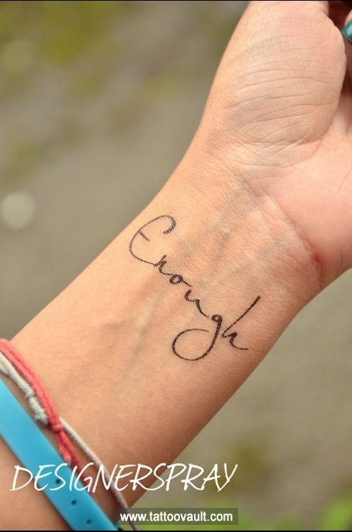 Check out Enough quote tattoo idea on wrist. We add new tattoo designs on a daily basis. Some of the coolest tattoos you will ever see.