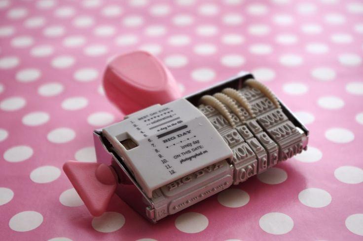 Chèvre culinaire: DIY Date Stamp // Datumstempel