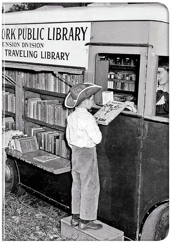 In between trips to the library - first with my mother and later on via public transportation, I loved going to the book mobile