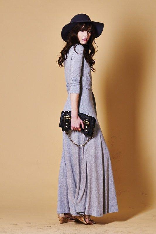 Madison Dress in Heather Gray