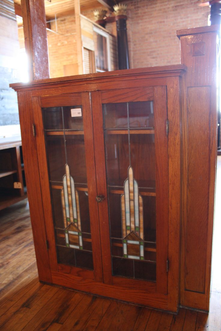 Wood And Stained Glass Cabinet Storage Built In Room Divider From A House In Chicago