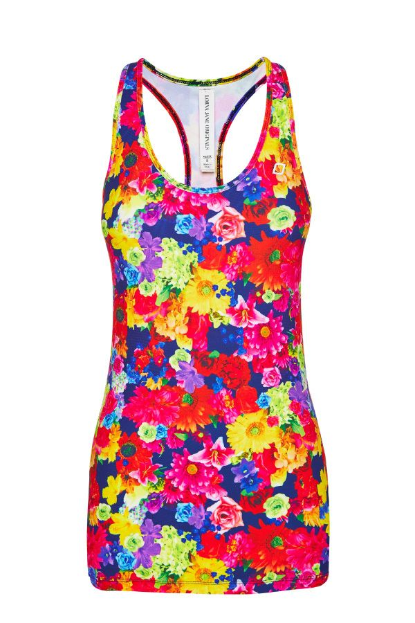 Floral Mania Excel Tank | Slim Fit Styles | Shop By Fit | Categories | Lorna Jane Site