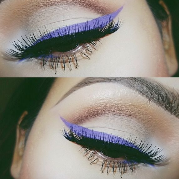 Colored Eyeliner, colored liner, anastasia waterproof creme colors, sigma gel liner, summer beauty trends, colorful eyeliner, bright eye makeup, graphic eye