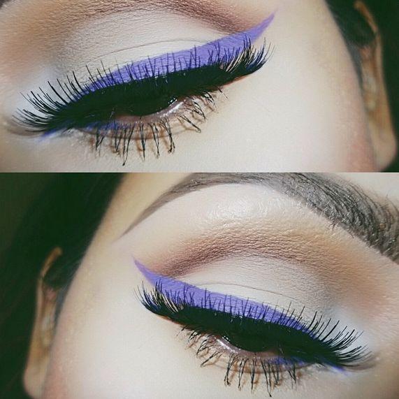 Colored Eyeliner, colored liner, anastasia waterproof creme colors, sigma gel liner, summer beauty trends, colorful eyeliner, bright eye makeup, graphic eye