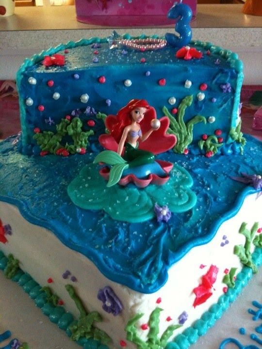 Ariel Cake by Whyt's Whimsy