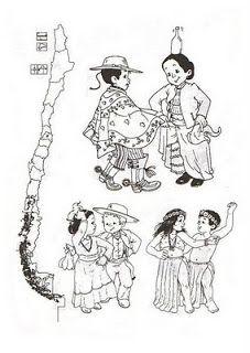 Bailes tradicionales de Chile en dibujos | conozcamos chileboard_id