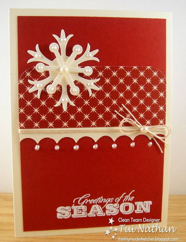 The 179 best handmade christmas cards images on pinterest handmade season greetings love the twine pearl idea find this pin and more on handmade christmas cards m4hsunfo