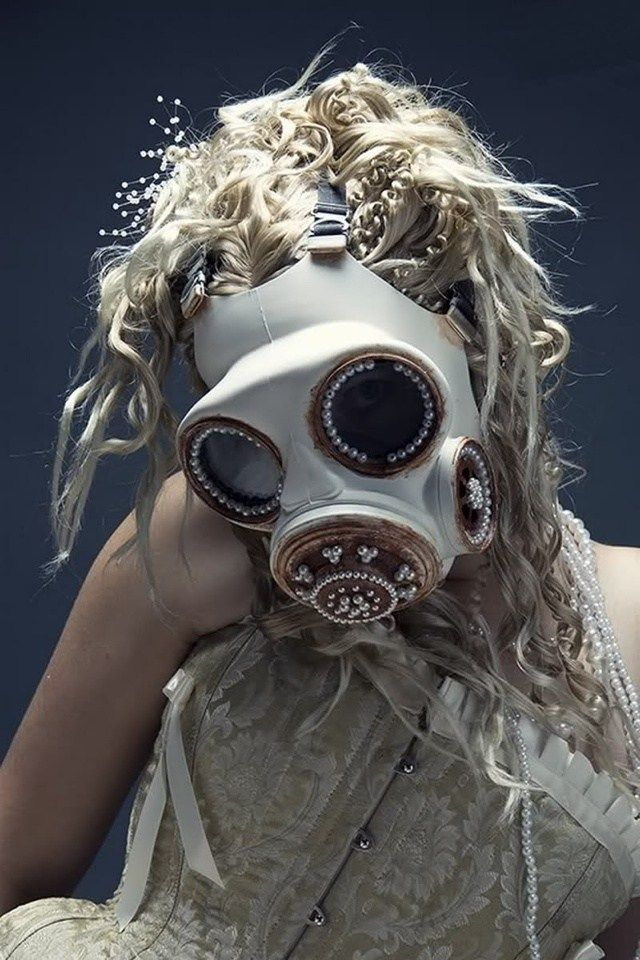 Apocalyptic Gas Drawing Post Mask Gas mask girl, Gas