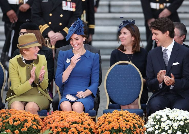 The Duchess of Cambridge shared a chuckle during a speech by the Duke of Cambridge...