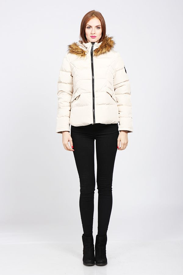 Winter jacket, fur collar