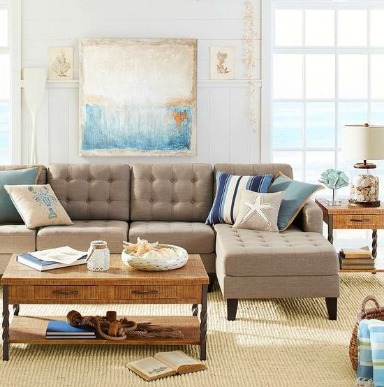 Pier 1 Catalog Bliss Shop This Room Center Stage In Neutral Beach Theme Living Is A Hand Tufted Poly Linen Blend Sectional T
