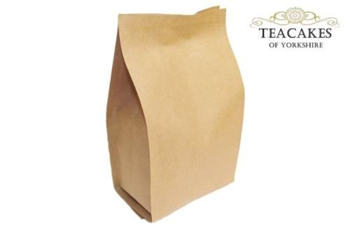100g Foil Lined Kraft Paper Bag Tea Coffee Natural packaging Spices Herbs Food