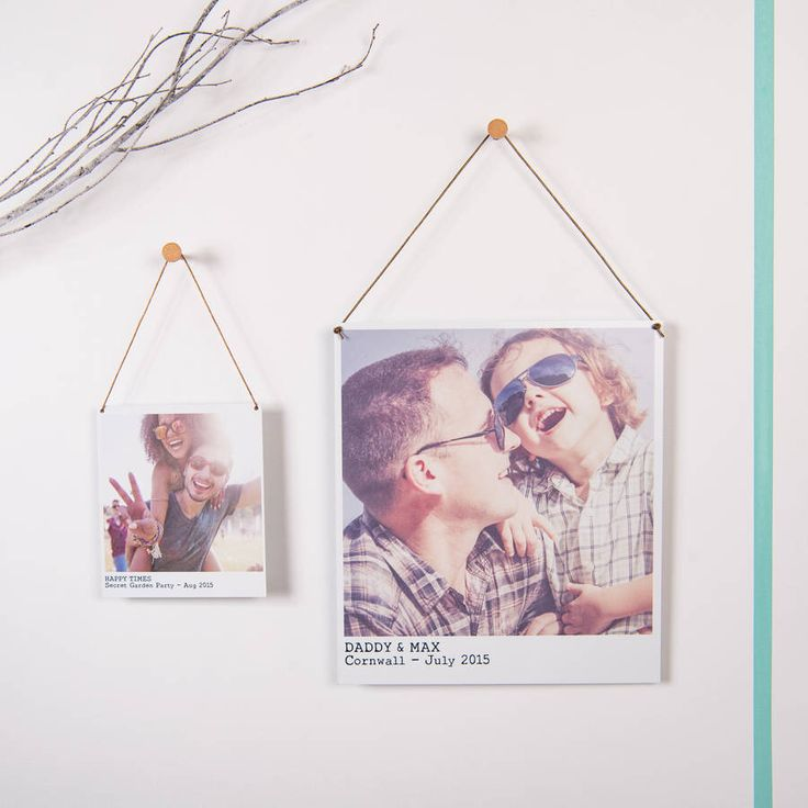 I've just found Personalised Metal Polaroid Print. A vintage-style hanging polaroid print, personalised with your photo and text, and hung with a copper leather cord.. £12.75