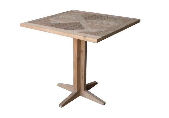 Stół obiadowy CONCEPT 80X80X75cm teak, antiq,naturalny - HOUSE&MORE