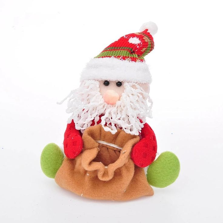 Aliexpress.com: Comprar Nuevo Tamaño: 17*13 cm de Santa Claus bolsas de regalo de Alta Calidad muñeca de la Navidad Para El Árbol de Interior o Al Aire Libre navidad Colgar 130 g/pcs de bag high quality fiable proveedores en Ugift Beauty Home Decorations :):):)
